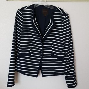 The Limited Blue and White Blazer.